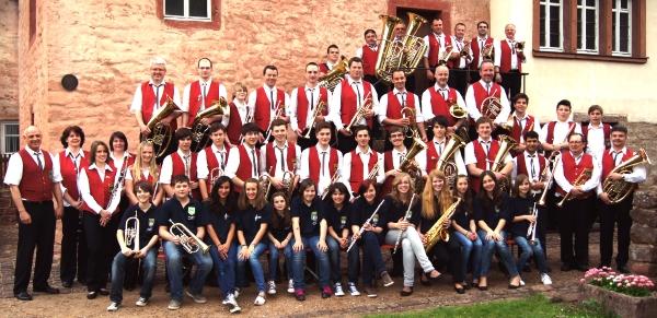 Die Musiker der Stadtkapelle Amorbach